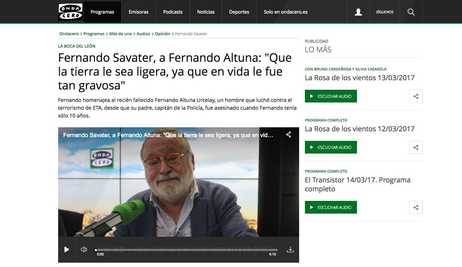 RADIO_ONDA_CERO___Fernando_Savater__a_Fernando_Altuna___Que_la_tierra_le_sea_ligera__ya_que_en_vida_le_fue_tan_gravosa_
