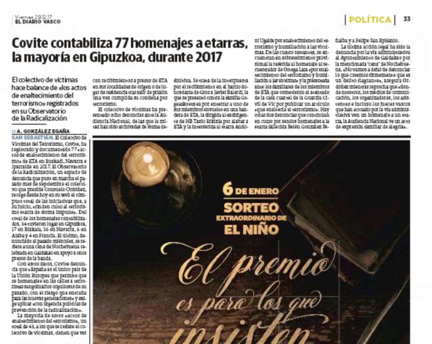 COVITE en el Diario Vasco