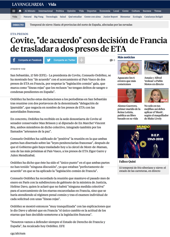 La Vanguardia covite