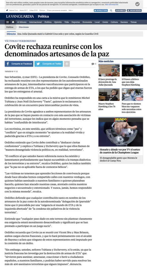 COVITE La Vanguardia
