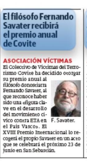 DIARIO VASCO SAVATER